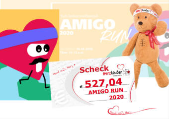 Amigo Run 2020 - Spendenscheck